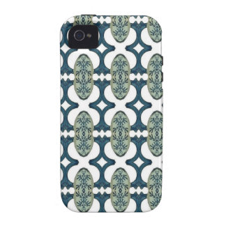 Decorative Blue And White Pattern iPhone 4 Cover