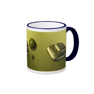 Decorative Blue and Yellow Abstract Mug