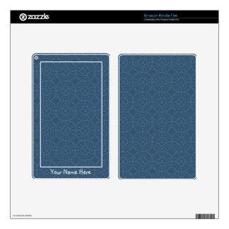 Decorative Blue Kindle Fire Skin