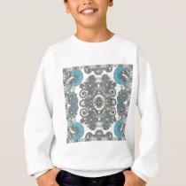 Decorative Blue pattern Sweatshirt