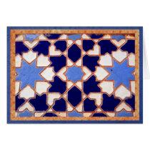 Decorative blue Spanish tiles.
