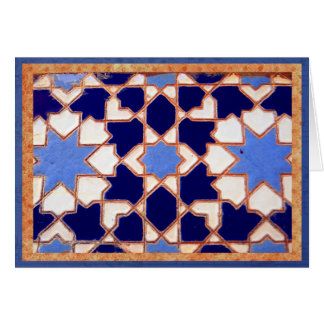 Decorative blue Spanish tiles. Card