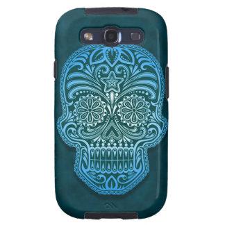 Decorative Blue Sugar Skull Samsung Galaxy SIII Cases