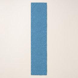 Decorative Blue Vintage  Chiffon Scarf