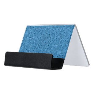 Decorative business card holders zazzle decorative blue vintage desk business card holder colourmoves