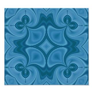 Decorative Blue wood pattern Photo Art