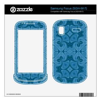 Decorative Blue wood pattern Samsung Focus Decal