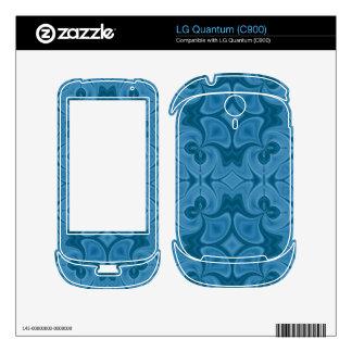 Decorative Blue wood pattern LG Quantum Decal