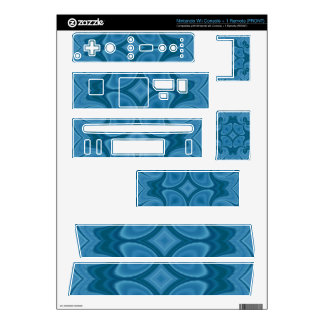 Decorative Blue wood pattern Decals For Wii