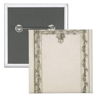 Decorative border, 1809 2 inch square button