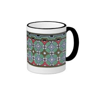 Decorative Border Design ( Owen Jones ) Ringer Coffee Mug