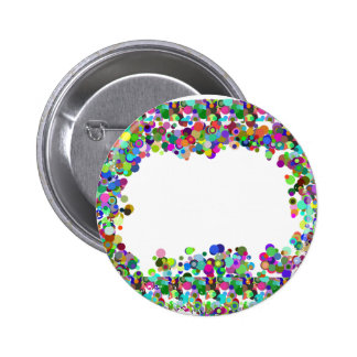 Decorative Border - Template option to add txt img 2 Inch Round Button