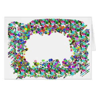 Decorative Border - Template option to add txt img Greeting Card