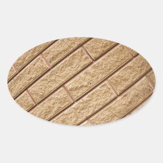 Decorative brickwork oval sticker