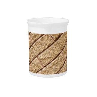 Decorative brickwork beverage pitcher