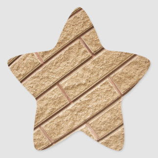 Decorative brickwork star sticker
