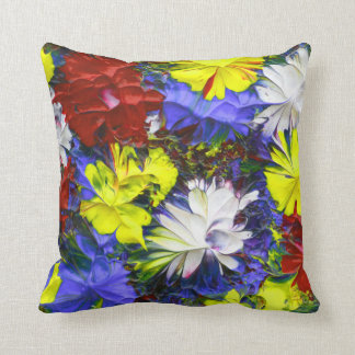 Decorative Bright & Colorful Abstract Throw Pillow