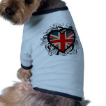Decorative British Heart Pet Tee Shirt