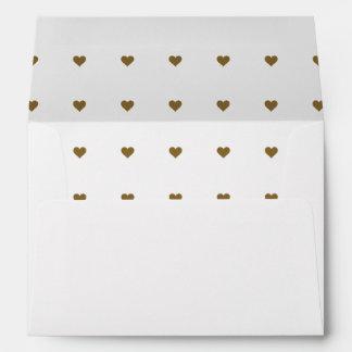 Decorative Bronze Heart Envelopes