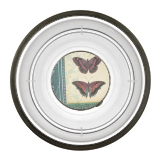 Decorative Butterfly Brocade by Vision Studio Pet Bowl
