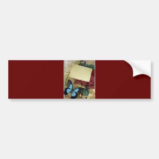 DECORATIVE BUTTERFLY SCRAP BOOKING ART BUMPER STICKER