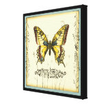 Decorative Butterfly with Wildflowers Canvas Print