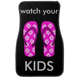 Decorative car floor mats for kids ride.