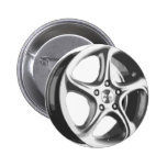 Decorative Car Rim Pinback Button