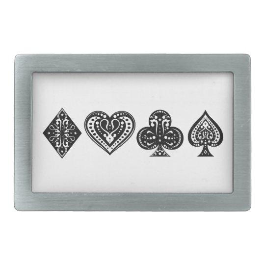 Decorative Card Suite Belt Buckle