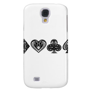 Decorative Card Suite Galaxy S4 Case