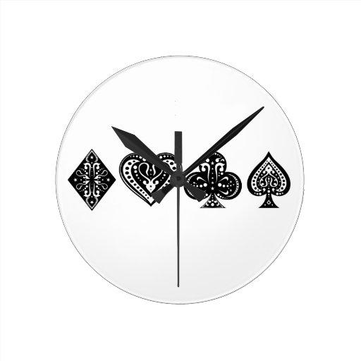 Decorative Card Suite Round Clock
