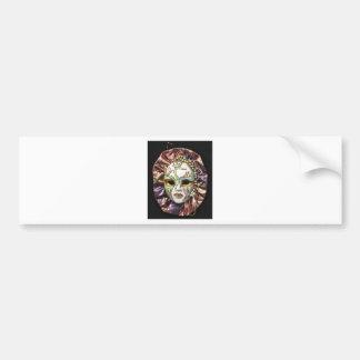 Decorative Carnival Mask Bumper Sticker