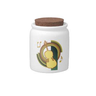 Decorative Cello Candy Jars