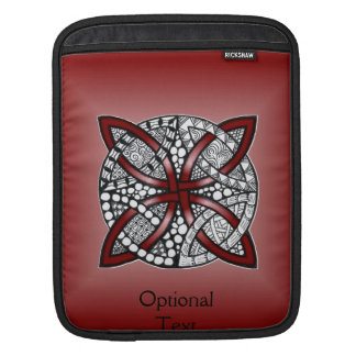 Decorative Celtic Knot Red iPad Sleeve