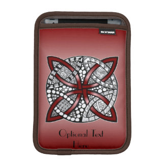 Decorative Celtic Knot Red Sleeve For iPad Mini