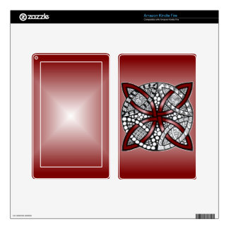 Decorative Celtic Knot Red Skin For Kindle Fire
