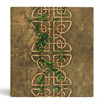 Decorative Celtic Knots With Ivy Binder