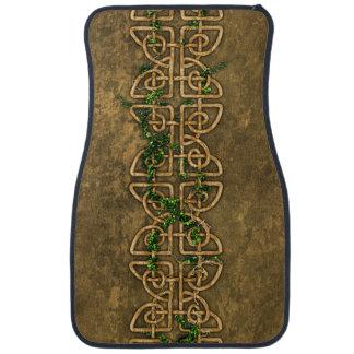 Decorative Celtic Knots With Ivy Car Mat