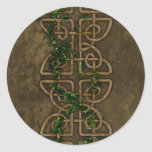 Decorative Celtic Knots With Ivy Classic Round Sticker