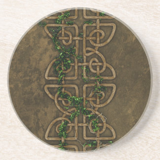 Decorative Celtic Knots With Ivy Beverage Coaster