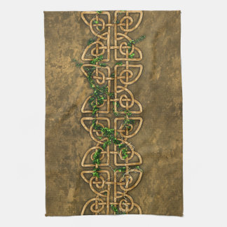 Decorative Celtic Knots With Ivy Kitchen Towel