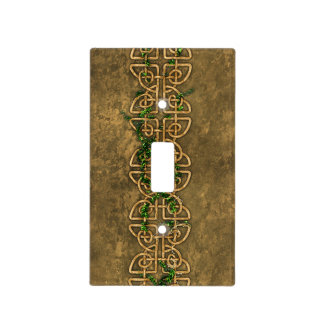 Decorative Celtic Knots With Ivy Light Switch Cover