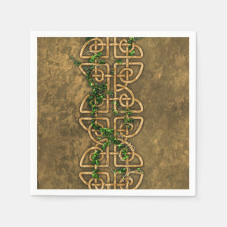 Decorative Celtic Knots With Ivy Disposable Napkin
