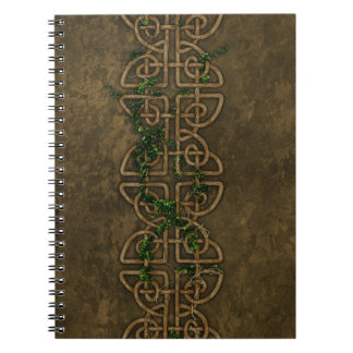 Decorative Celtic Knots With Ivy Spiral Notebook
