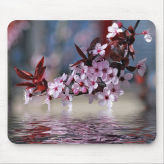 Decorative cherry tree blossoms mouse pad