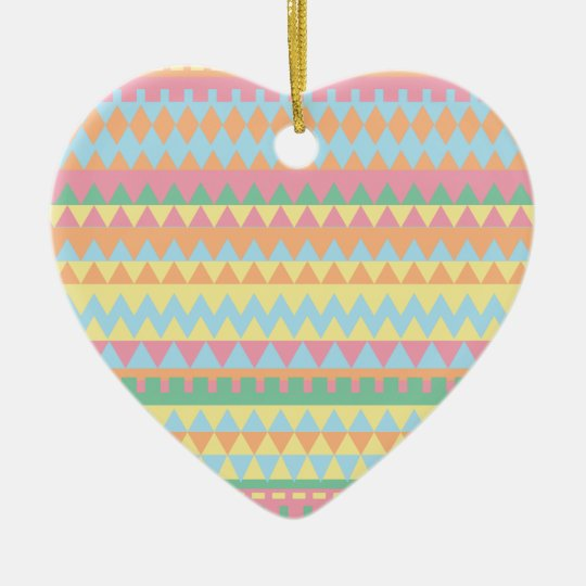 Decorative Chevron Aztec pattern Ceramic Ornament