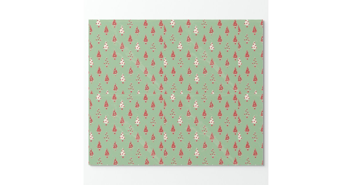 Decorative Christmas Background Paper Wrapping Paper Zazzle