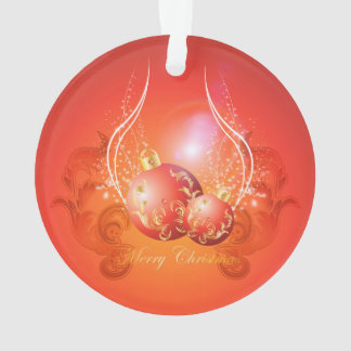 Decorative christmas balls in gold and red