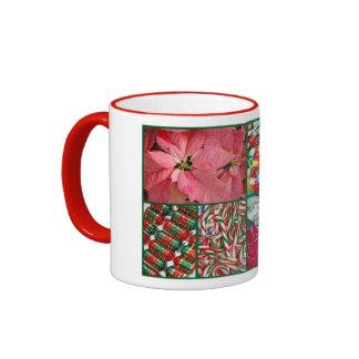 Decorative christmas collage mug
