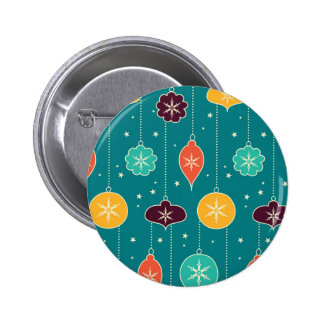 Decorative Christmas Colorful Ornaments on Blue Pin